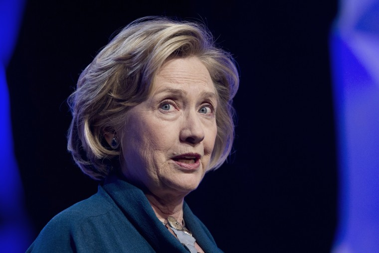 Former U.S. Secretary of State Hillary Rodham Clinton speaks in Las Vegas, Nevada on April 10, 2014.