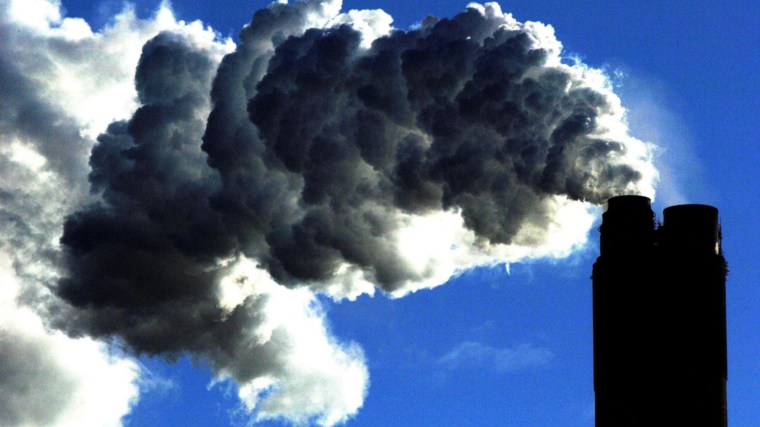 Emissions from a coal power plant