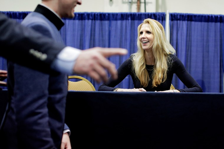 Ann Coulter signs books during the 41st annual Conservative Political Action Conference, March 8, 2014.
