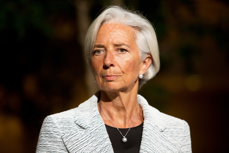 International Monetary Fund Managing Director Christine Lagarde at IMF headquarters on April 30, 2014 in Washington D.C.