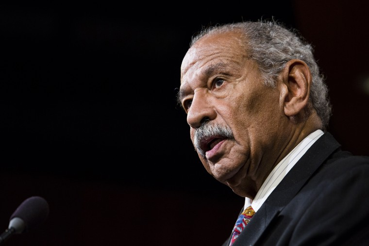 U.S. Rep. John Conyers (D-MI) speaks a news conference on Capitol Hill, on Jan. 16, 2014 in Washington, DC.