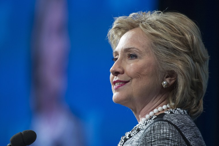 Former Secretary of State Hillary Clinton addresses the American Jewish Committee Global Forum closing plenary in Washington, D.C., May 14, 2014.
