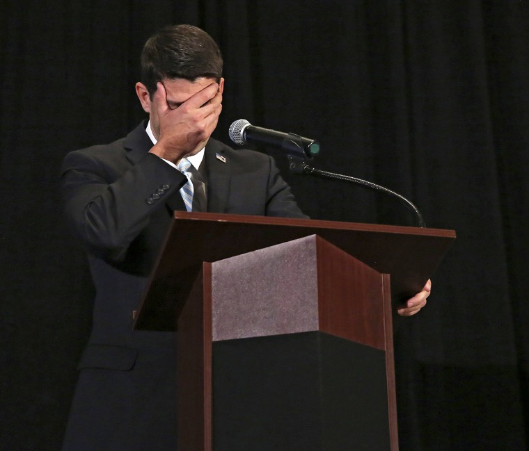 Rep. Paul Ryan (R-WI) at the Iowa GOP Lincoln Dinner at the DoubleTree by Hilton in Cedar Rapids, Iowa April 11, 2014.