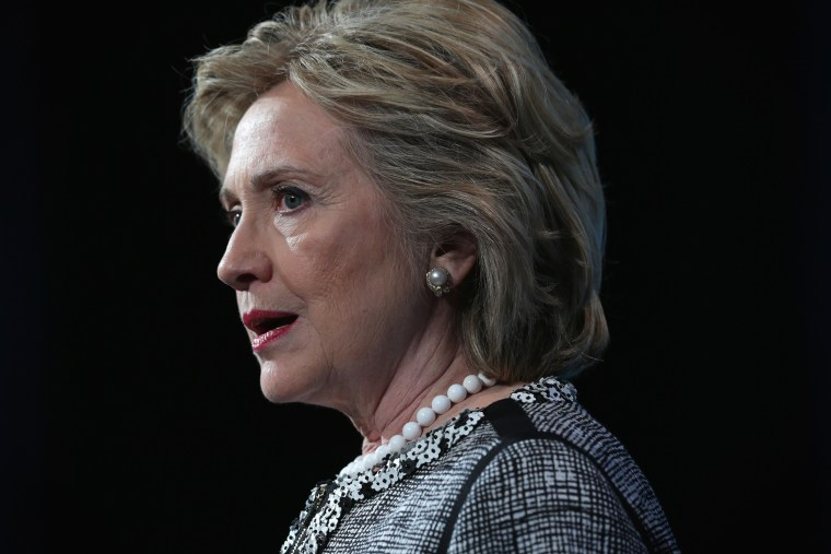 Former Secretary of State Hillary Clinton speaks at an event, May 14, 2014, in Washington, D.C.