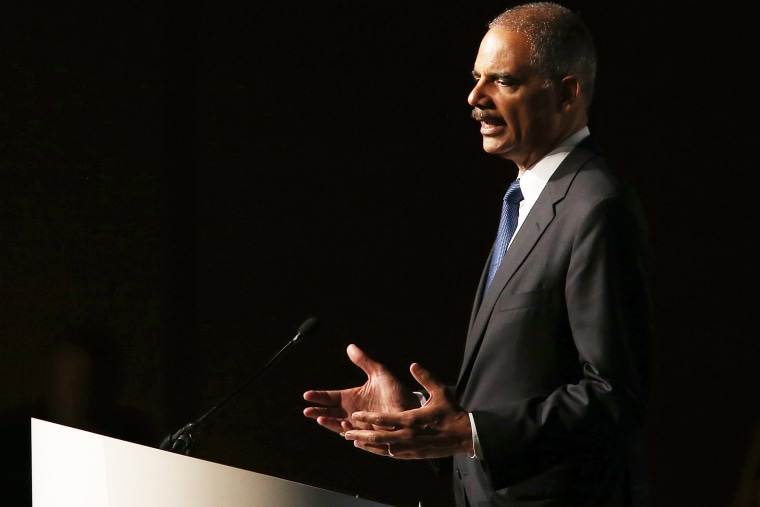 Attorney General Eric Holder speaks during the 2013 America Bar Association (ABA) annual meeting on August 12, 2013 in San Francisco, Calif.