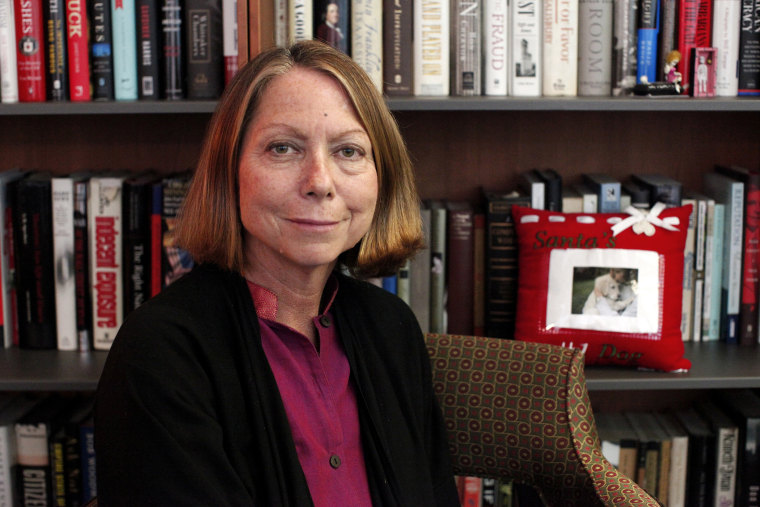 Former New York Times Executive Editor Jill Abramson poses for a photo during an interview in New York, Sept. 21, 2011.