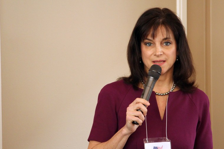 In this March 19, 2014 photo, Oregon Republican Senate candidate, Monica Wehby speaks at a candidate forum in Lake Oswego, Ore.
