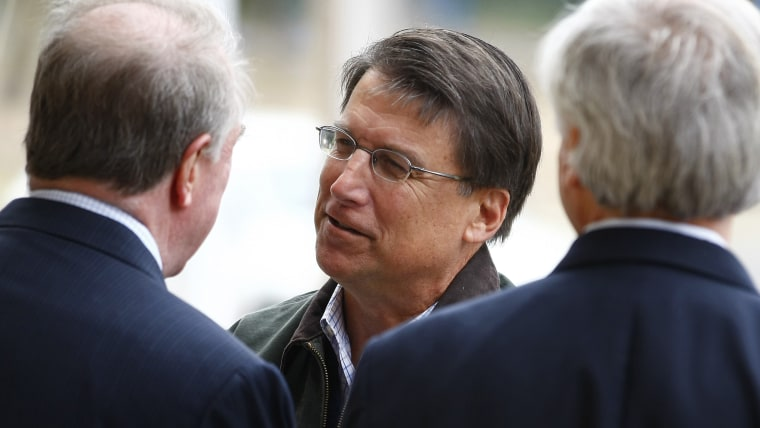 North Carolina Republican gubernatorial candidate, former Charlotte Mayor McCrory meets supporters during U.S. presidential election in Charlotte