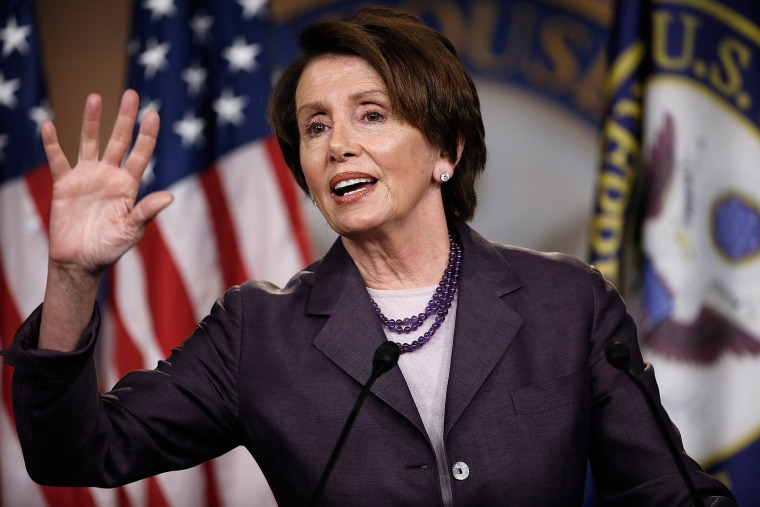 House Minority leader Rep. Nancy Pelosi (D-CA) during a press conference May 9, 2014 in Washington, D.C.