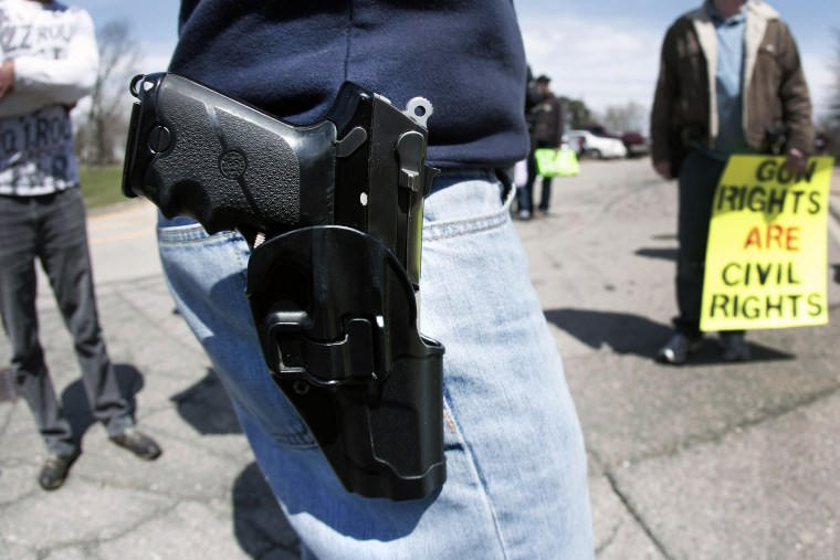 Supporters Of Michigan Open Carry Law Hold March And Rally