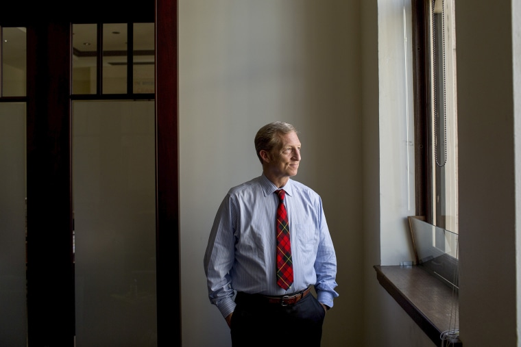 Tom Steyer, a hedge fund billionaire and founder of NextGen Climate Action at the interest group's offices in San Francisco.