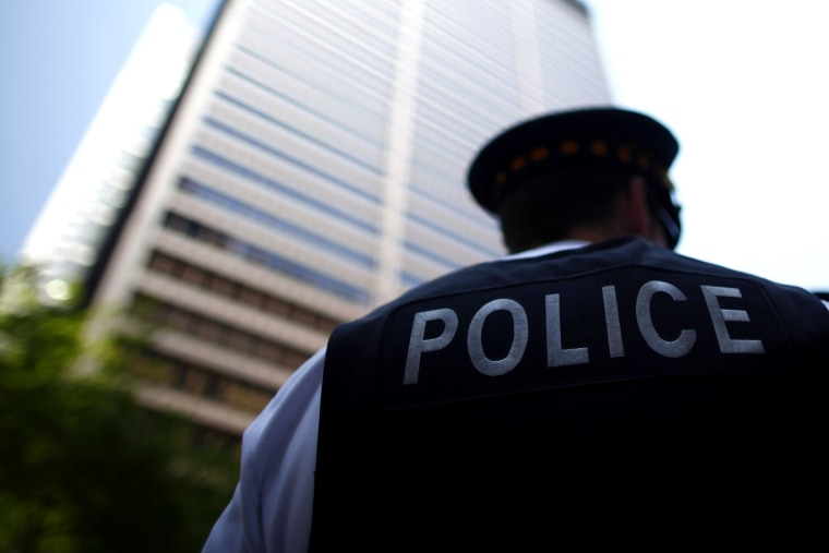 A Chicago Police officer in Chicago on May 18, 2012.