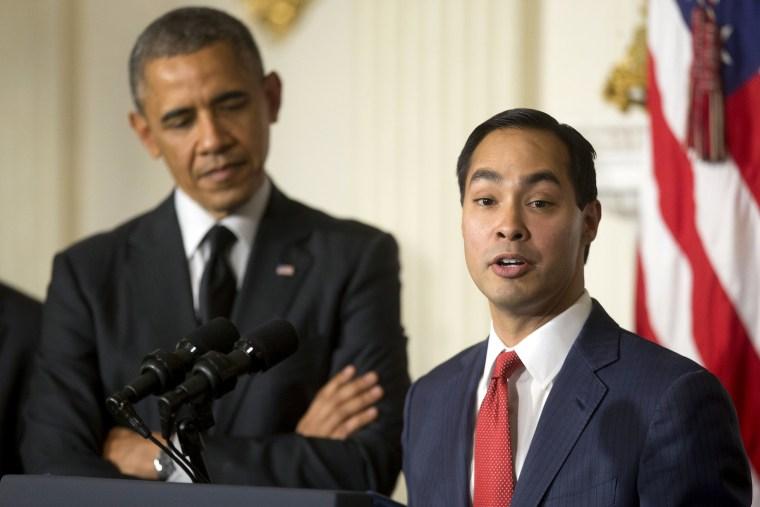 Image: Barack Obama, Julian Castro,