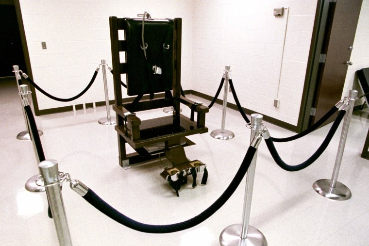 The electric chair in Riverbend Maximum Security Institution in Nashville.