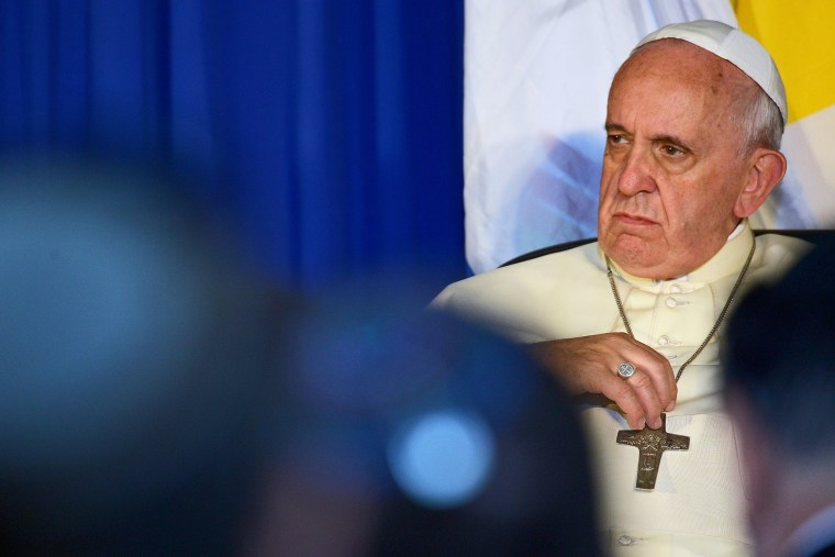 Pope Francis is seen in Jerusalem on May 26, 2014.