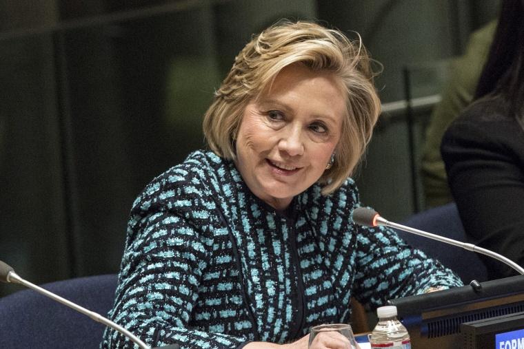 Hillary Clinton Speaks At UN International Women's Day Event