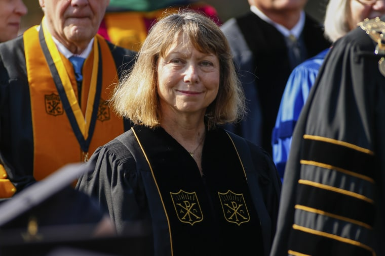 Former New York Times Executive Editor Jill Abramson Gives Commencement Address At Wake Forest University