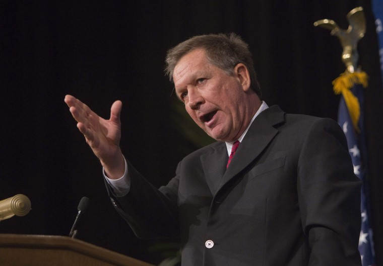 Ohio Governor John Kasich speaks at a luncheon at the Venetian Resort in Las Vegas, Nevada March 29, 2014.