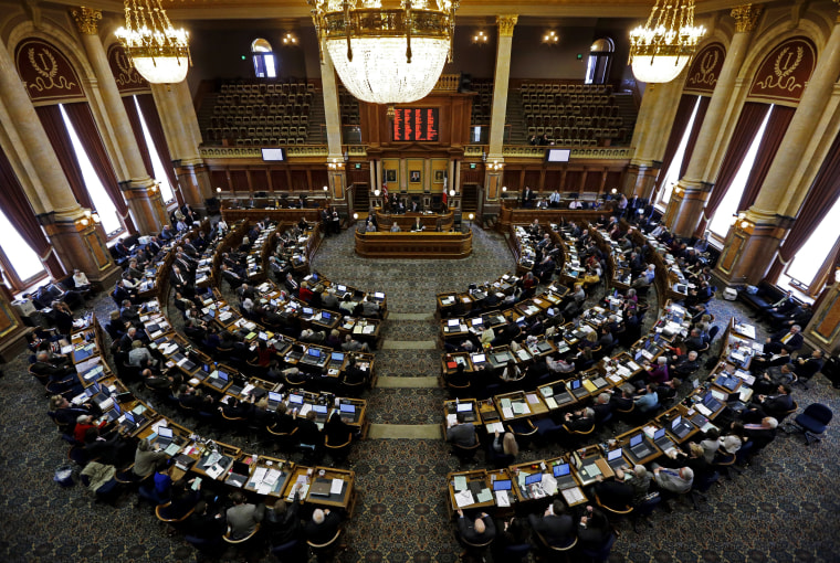 A view of the Iowa Legislature.