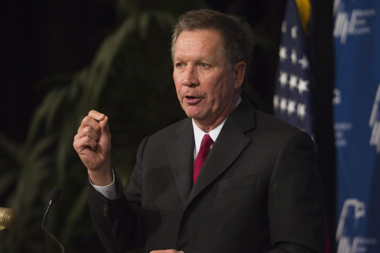 Ohio Governor John Kasich speaks at a luncheon in Las Vegas, Nevada March 29, 2014.