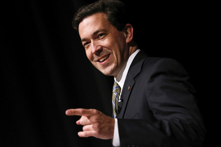 Mississippi Senator Chris McDaniel speaks during a town hall meeting in Ocean Springs, Mississippi, March 18, 2014.