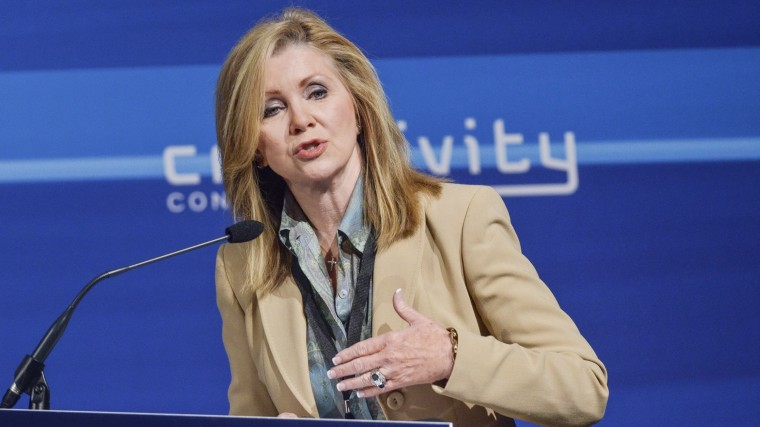 U.S. Representative Marsha Blackburn speaks during the 2nd Annual Creativity Conference presented by the Motion Picture Association of America at The Newseum on May 2, 2014 in Washington, DC.