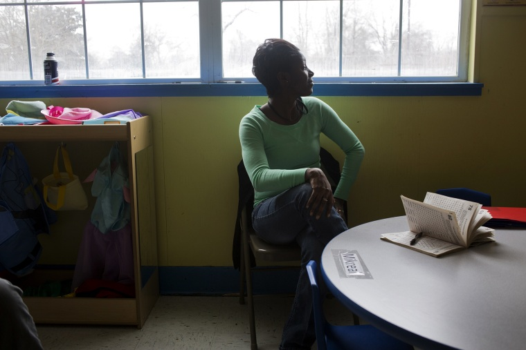 """Kiswanna Randle, a teacher from Little Rock, Arkansas who has several health issues is now covered by the state's \""""private option\"""" Medicaid expansion."""