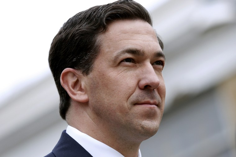 Mississippi Senator Chris McDaniel attends a town hall meeting in Ocean Springs, Mississippi March 18, 2014.