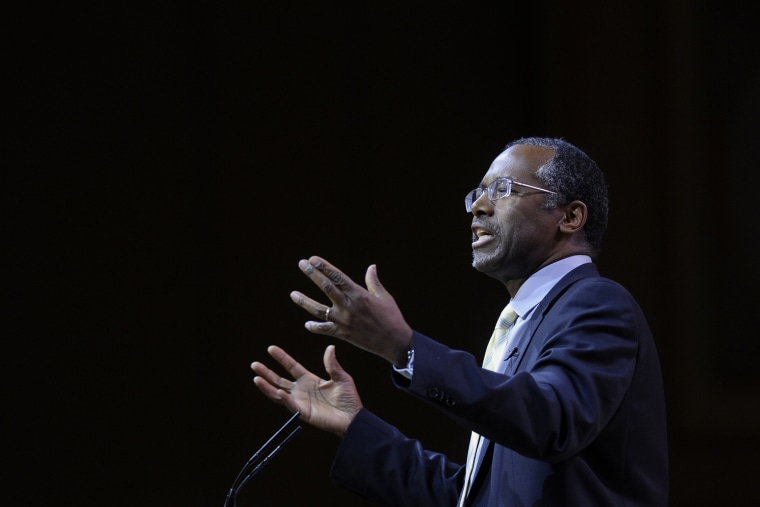 Dr. Ben Carson speaks at the Conservative Political Action Conference annual meeting in National Harbor, Md., March 8, 2014.