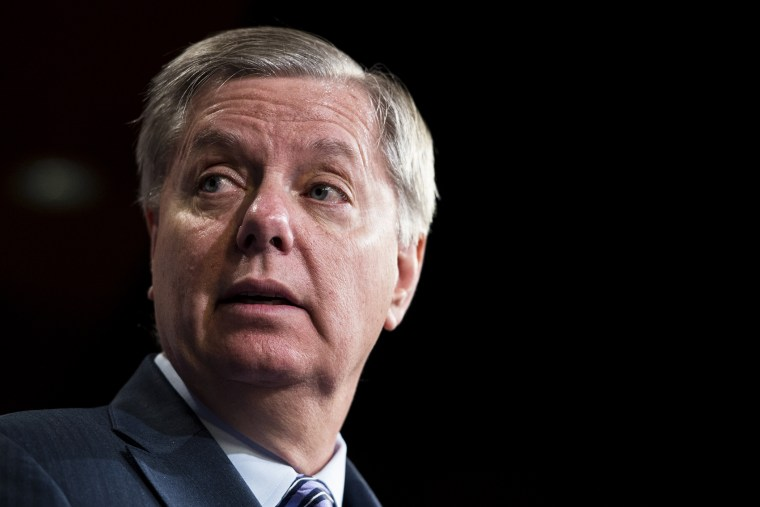 Sen. Lindsey Graham, R-S.C., speaks during a news conference, March 26, 2014, in Washington, D.C.