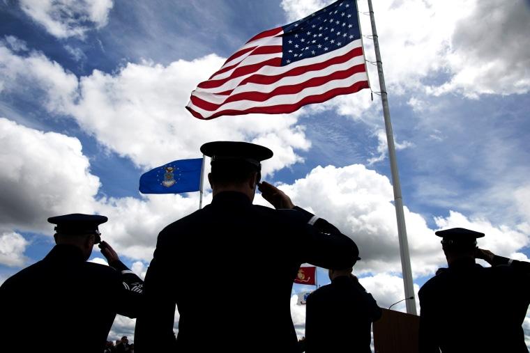 A Memorial Day Ceremony in Washington.