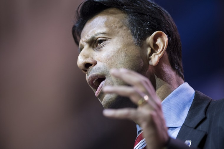 Louisiana Governor Bobby Jindal speaks during the American Conservative Union Conference March 6, 2014 in National Harbor, Maryland.