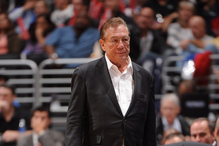 Donald Sterling at a Clippers game in 2008.