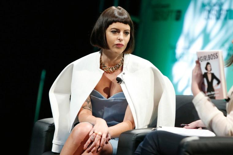 CEO Nasty Gal, Sophia Amoruso speaks at TechCrunch Disrupt NY 2014, May 7, 2014 in New York City.