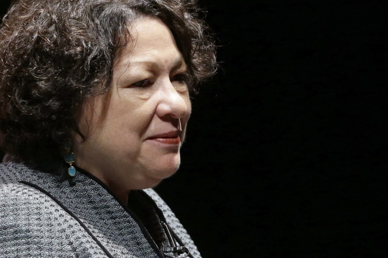 U.S. Supreme Court Justice Sonia Sotomayor speaks at the University of Delaware last September.