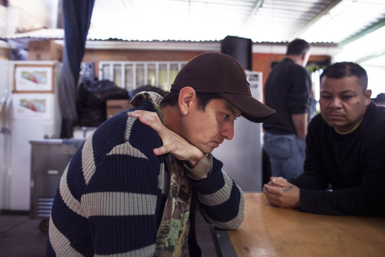 Efrain Alejandro, a Mexican who has twice served prison time in the United States for illegally crossing the border, at the Kino Border Initiative shelter in Nogales, Mexico, Jan. 28, 2014.