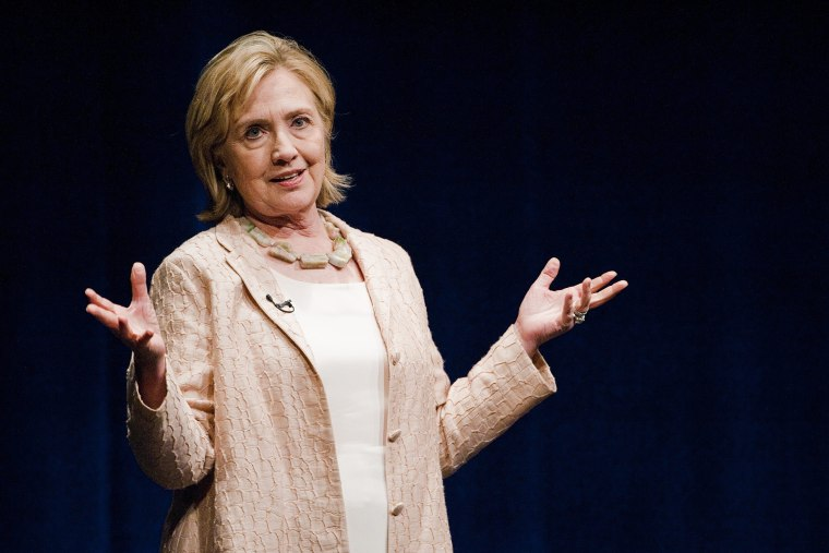 """Clinton in Austin Friday: """"I do have a decision to make""""."""