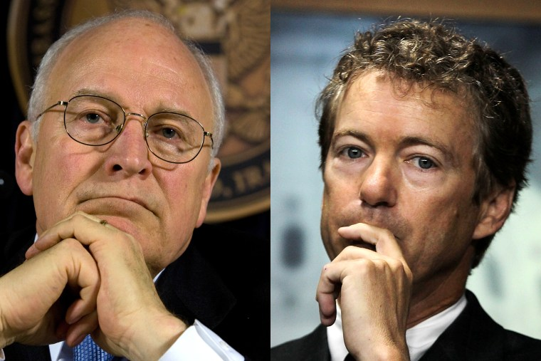 Former Vice President Dick Cheney and U.S. Sen. Rand Paul clash over Iraq policy.