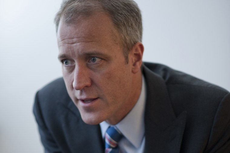 Sean Patrick Maloney (D-New York) is interviewed at Roll Call in Washington, D.C.