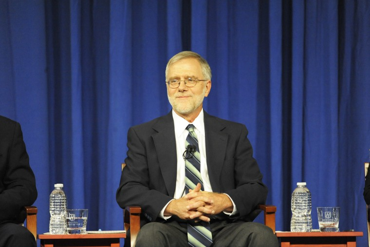 Howie Hawkins participates in a debate held at Hoftstra University in Hempstead, N.Y.