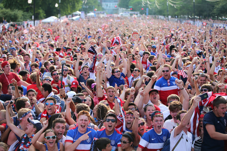 Soccer Fans Gather To Watch U.S. Play Portugal In World Cup Match