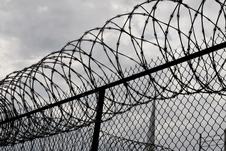 A view of barbed wire at the Louisiana State Penitentiary.