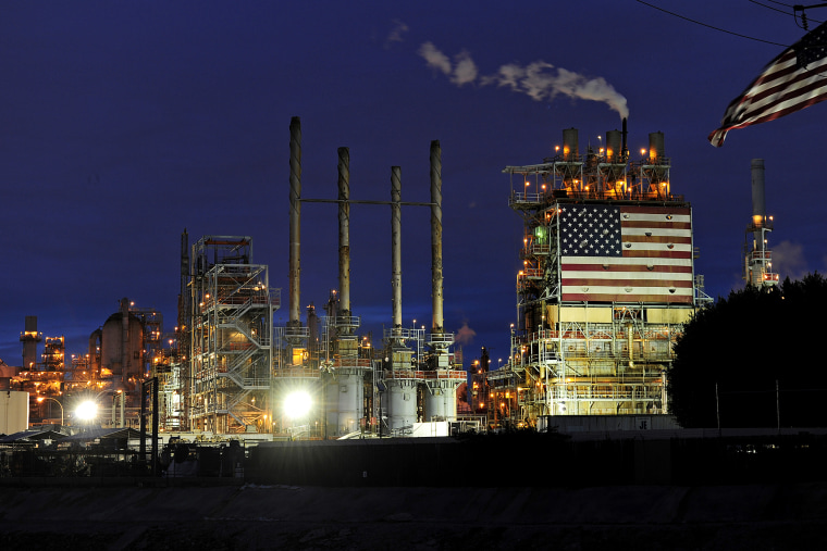 A view of a BP refinery in Carson, California.