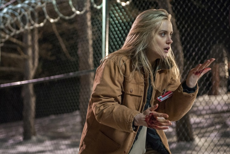 """This image released by Netflix shows Taylor Schilling in a scene from """"€œOrange is the New Black."""""""