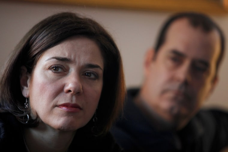 Francine Wheeler and her husband, David, whose son Ben was killed in the shooting at Sandy Hook Elementary School, at their home in Newtown, Conn., March 4, 2013.