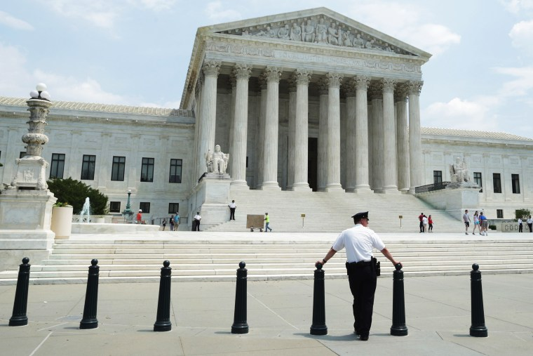 The United States Supreme Court  is seen on May 27, 2014.
