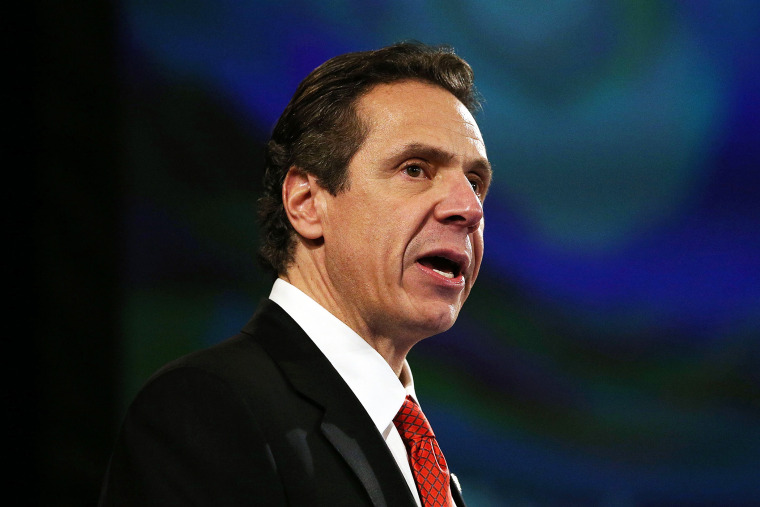 New York State Governor Andrew Cuomo gives fourth State of the State address on Jan. 8, 2014 in Albany, N.Y.