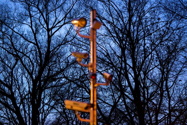 A camera tree used to photograph vehicles in Washington.