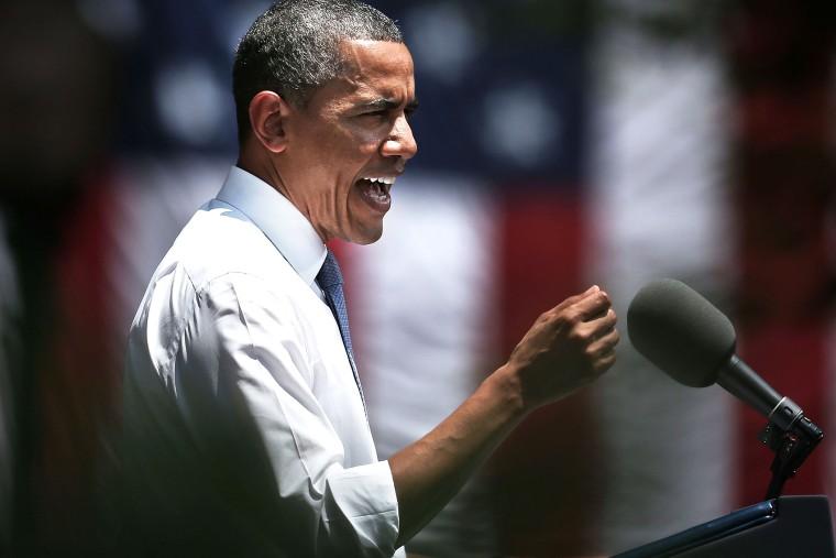 President Barack Obama speaks  at an event, June 25, 2013, in Washington, D.C.