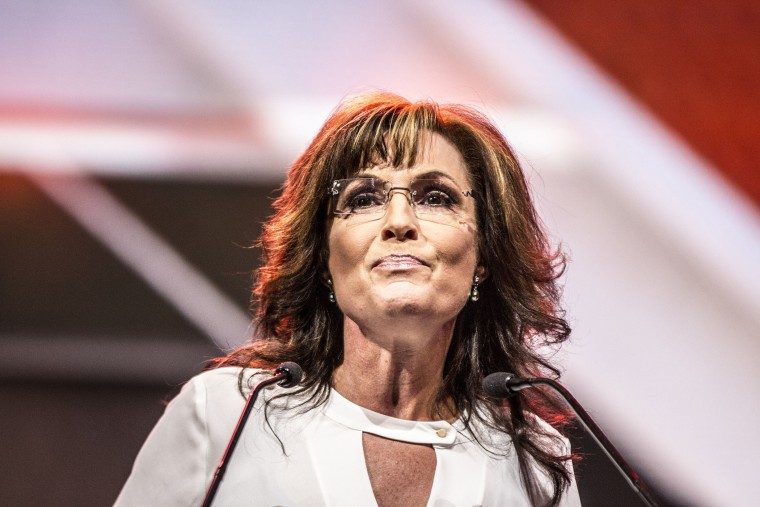 Sarah Palin at The National Rifle Association annual convention in Indianapolis, April 2014.